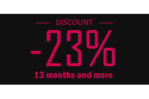 23% discount when buying a rental of 12 months or more or an unlimited license.